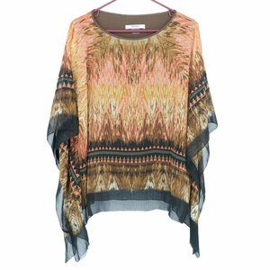 Tanjay petite abstract paint spill oversized top